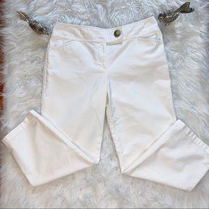 White Ann Taylor Margo Cropped Dress Pants Size 6